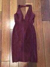 Herve Leger Burgandy Short Dress Small