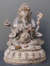 Ancienne Statuette de Ganesh en Bronze du Népal