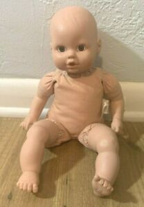 "Circo Target 14"" Baby Doll Cititoy Nude Vinyl Head Cloth Body Fair Brown Eyes"