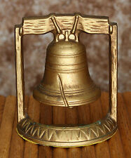 Vintage Usa Liberty Bell Bookend/Doorstop Cast Gold Tone Metal #1L