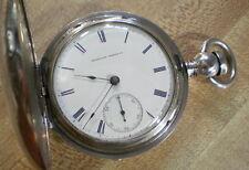 Large 1864 Waltham Civil War Appleton Tracy & Co. Hunter Pocket Watch Silver!