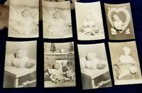 """Vintage Baby Photos Photographs Holiday christmas Easter toys 3""""x4.5"""" lot of 8"""