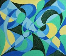 ABSTRACT SHAPES STUDY Acrylic Painting On Board c1960