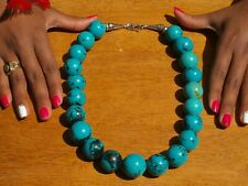Large Southwestern Turquoise Bead Necklace