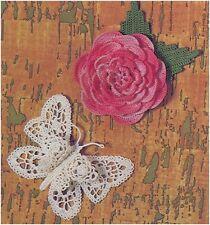 Patrón de ganchillo para hacer una Rosa Broche y un broche mariposa