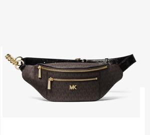 MICHAEL MICHAEL KORS Medium Logo Belt Bag Brown/Black