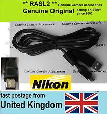 Cable USB Genuino Original Nikon CoolPix, D2 D3 D4 d300s, UC-E4 UC-E5