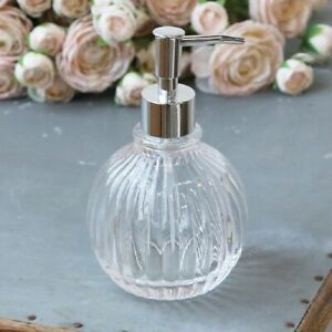 Vintage Antique Style Glass Soap Lotion Dispenser