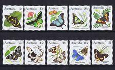 Australian Decimal Stamps 1983 Australian Butterflies (Set of 10) MNH, **NICE!!