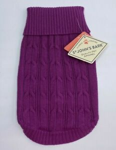 St. John's Bark Quality Pet Apparel Dog Sweater Small  (Chest 15-19in) Fuschia