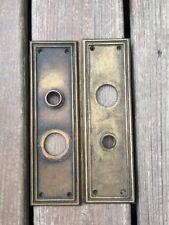 ANTIQUE Vintage Salvaged RHC Company 01254 BENECIA  Pair Of Door Plates