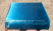 T-Rocks Fiber Optic Glass TURQUOISE BLUE Flint Knapping Spear Block Rough 2.4#