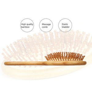 Anti-static Wooden Comb Scalp Massage Brush Bamboo Air Combs Cushion Hair Care
