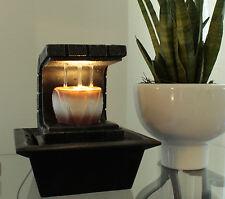 Zimmerbrunnen Copa mit LED Beleuchtung Springbrunnen Tischbrunnen