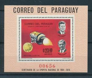 [105551] Paraguay 1969 Space travel weltraum J.F. Kennedy Souvenir Sheet MNH