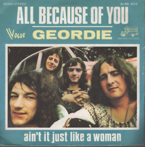 "Geordie All Because Of You 45T 7"" france french pressing VOGUE 45RB. 4219 ac/dc"