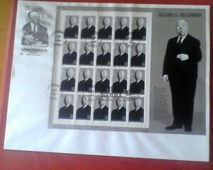 US Stamps 1998 Honoring Alfred Hitchcock, MNH Sheet 20, # 3226