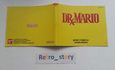 Nintendo NES Dr Mario Notice / Instruction Manual