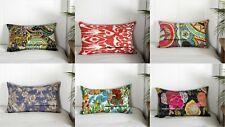 """Standard Kantha Pillow Sham Indian Kantha Cushion Cover Bed Sofa Throw 20x12"""""""