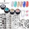 BORN PRETTY Glitter Nail Stamping Gel UV Gel Polish Stamper Stamping Plate Kits