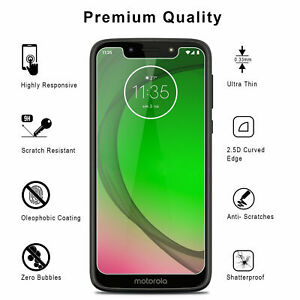 【1/2/3/4 Pks】Tempered Glass Screen Protector for Motorola Moto G7 Play