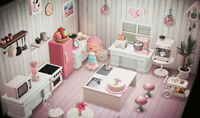 Animal Crossing New Horizons 💗beautiful kitchen in white pink (37 pieces)💗