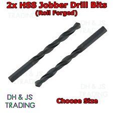 2x HSS Drill Bits - Roll Forged - Jobber Bit - General use Steel Wood Plastics
