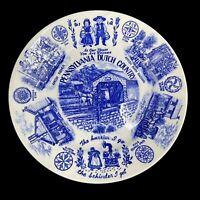 "Blue & White Souvenir Plate ""PENNSYLVANIA DUTCH COUNTRY"" 10"" Amish Home"