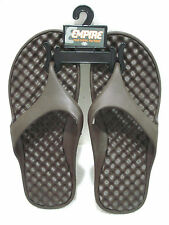 EMPIRE Men's Casual Flip Flop Brown Size Medium (9)