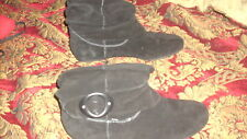 Dr Scholl's OAKLAND Suede Leather Boots Black Size 10 M NWOB