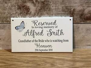 Wedding Memorial Missong Loved Ones Heaven Personalised Reserved Wedding Seat Si
