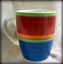 Royal Norfolk Mambo Blue, Rose, Orange & Green Mug  - Holds 11 oz. - 3 Available