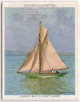 Dublin Bay 21 Foot Class Racing Sailboat 1930s Trade  Card