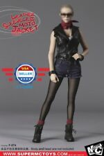 SuperMCTOYS 1/6  Leather Sleeveless Moto Jacket Sets for Female Phicen Doll