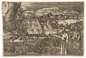 Landscape with a Cannon Albrecht Dürer Durer engraving ca.1518