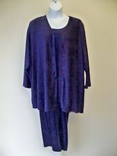 Physical Attraction Purple 3 Piece Pant Set 6X  NWT Textured