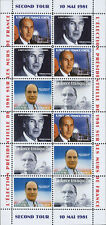 """POLITICAL LABEL """"France Presidential - 2nd ROUND / MITTERRAND - GISCARD"""" 1981"""