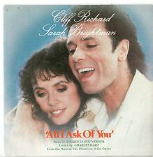 "Cliff Richard Sarah Brightman All I Ask of You 7"" Sgl"