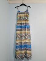 Old Navy Women's Maxi Dress Sleeveless Scoop Neck Elastic Waist Cut Side.Size M