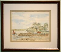 Irish Art Original Watercolour Painting NEWTOWNARDS SAILING CLUB by HARRY REID