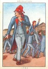 COSTUME HOMME 1792 EPOQUE REVOLUTIONNAIRE REVOLUTION FRANCE IMAGE CARD 50s