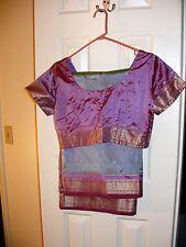 Silk sari with stiched blouse Saree Indian Pakistani Eid Wedding
