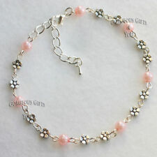 Pearl Silver Plated Costume Anklets