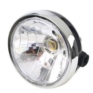 "7"" 12V Motorcycle Headlight Lamp Halogen Bulb Round Fit Yamaha YBR 125 2002-2013"