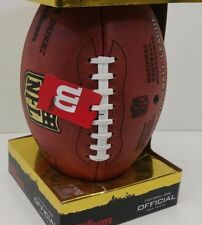 Official Wilson NFL The Duke Football On Field Game Ball Authentic Leather *New*