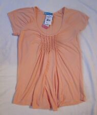 FRESH PRODUCE Melon Peach Float Above Top SS Shirt USA NWT NEW Womens Size XS