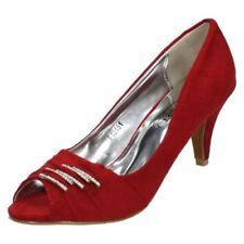 Escarpins à bout ouvert rouge pour femme