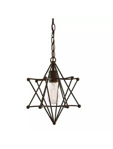allen + roth 10-in Aged Bronze Country Cottage Single Star & 1 A+R Mini Shade