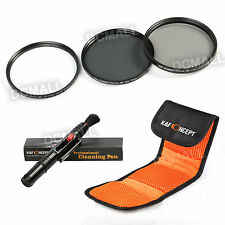 58mm UV CPL ND4 Polarizing Filter Kit For Canon EOS 550D 650D 450 18-55 mm HOT