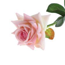 Single Stem Artificial Flower Fake Silk Rose Bridal Wedding Garden Home Decor